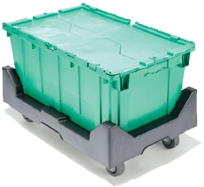 Rentable packing and moving bins are stackable and safer than cardboard moving boxes