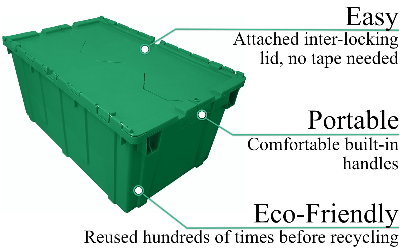 Rentable packing and moving bins are eco friendly
