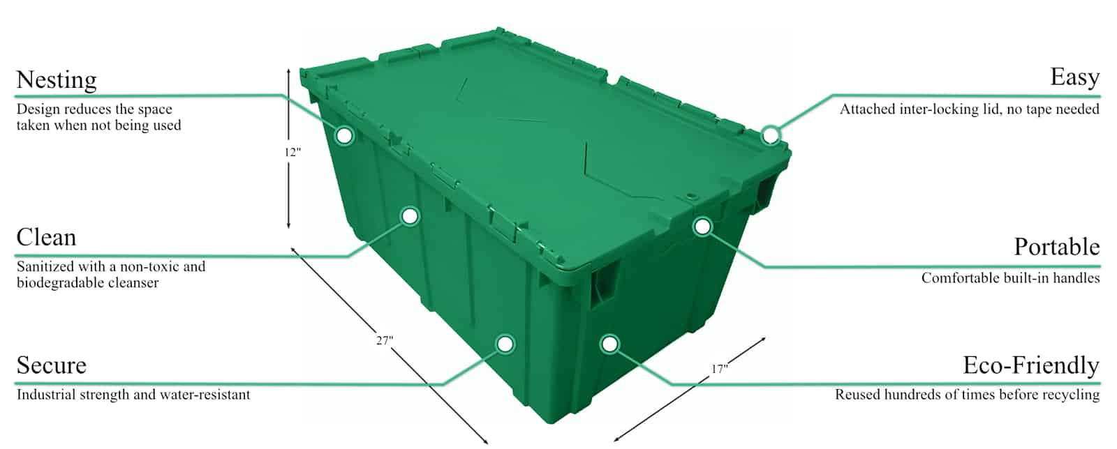 Rentable packing and moving bins are eco friendly, and safer and more convinient than cardboard moving boxes